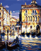 DIY Oil Painting for Adults Kids Paint By Number Kit Digital Oil Painting Harbour 41cm X 50cm