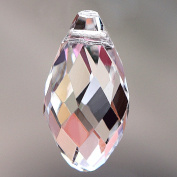Bingcute Teardrop Chandelier Crystal Pendants Glass Pendants Beads Pack of 50