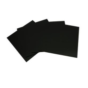 System 96 15cm Black Glass Squares - 4 Pack [Home] by iDichroic