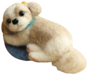 Felt wool kit fluffy wool, felt dog Shih-tzu H441-362