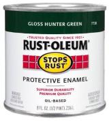 Rustoleum Stops Rust 7738 730 1/2 Pint Hunter Green Protective Enamel Oil Base Paint