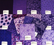 FAT QUARTER ~ Set of 10 100 % COTTON ~ PURPLE / LAVENDER ~ Quilt Fabric ~ CRAFTS ~ SEWING