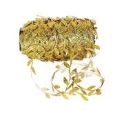 20 Yards Olive Leaves Leaf Mirror Leather Sequins Trim Ribbon for DIY Craft Decoration