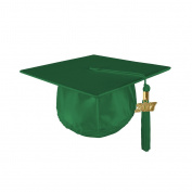 Kindergrad Shiny Kindergarten Graduation Mortar Board Cap and Matching 2017 Tassel - KELLY GREEN