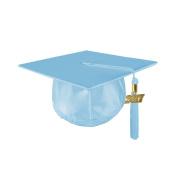 Kindergrad Shiny Kindergarten Graduation Mortar Board Cap and Matching 2017 Tassel - LIGHT BLUE