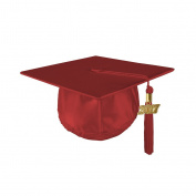 Kindergrad Shiny Kindergarten Graduation Mortar Board Cap and Matching 2017 Tassel - RED