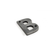 Antique Pewter Letter B - Height 78mm, Thickness 8mm
