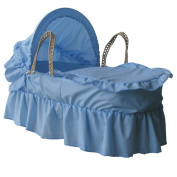 eBabygoods Moses Dressings Set Blue with Blue Embroidered Trim