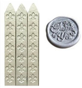MNYR New 3pcs Silver Wax Sticks with Wicks for Decorative Wedding Invitations Wax Seal Sealing Stamp Gift Cards Sealing Wax