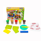 SZJJX Modelling Dough Let's Go Picnic Playset Toys Deluxe Plasticine Mud with Bonding Clay and Moulds 5812-B