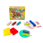 SZJJX Modelling Dough Fancy Candy Playset Toys Deluxe Plasticine Mud with Bonding Clay and Moulds 5816-C
