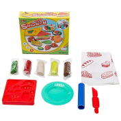 SZJJX Modelling Dough Sandwich Playset Toys Deluxe Plasticine Mud with Bonding Clay and Moulds 5804-C