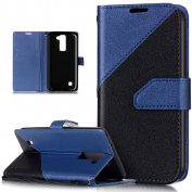LG Stylus 2 Case,LG Stylus 2 Cover,ikasus Hit Colour Collision PU Leather Fold Wallet Pouch Case Premium Leather Wallet Flip Stand Credit Card ID Holders Case Cover for LG Stylus 2 LS775,Blue