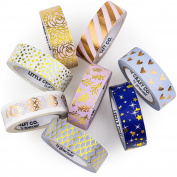LittleCraftCo Exclusive Premium Washi Tape - 8 Rolls. Create Unique Decorative Crafts + Beautify Bullet Journals or Planners Easily! Gorgeous and Patterns For Kids & Scrapbooking!