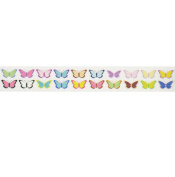 Butterfly Washi Tape (1 Roll - 1.4cm wide x 10.95 yards long) - Butterflies Party Supplies, Japanese Washi Tape, Butterfly Wedding Gift Wrap Tape, Colourful Stick Tape