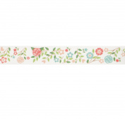 Wedding Flowers Washi Tape (1 Roll - 1.4cm wide x 10.95 yards long) - Pink & Green Floral Sticky Tape, Gift Wrap Tape for Wedding Favours, Crafting Tape, Floral Washi Tape
