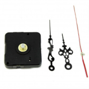 Hunulu New Clock Quartz Movement Mechanism Red and Black Hand DIY Replacement Part Set