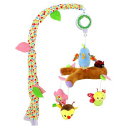 SKK BABY Musical Crib Mobile With Arm Holder Rattle Teether Mirror Gift For Newborn Infant
