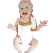 Ularma Infant Baby Girls Tassels Romper Jumpsuit Clothes Sunsuit Outfit + 1 pc Headband