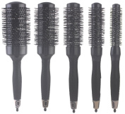 Ceramic Thermal Round Brush for Blow Drying, Curling and Styling, Set of 5 Sizes