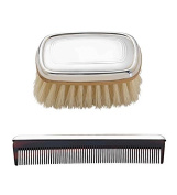 Lunt Sterling Silver Gallery Boy's Brush & Comb Set - Custom Engraved