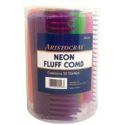 Burmax Aristocrat Neon Combs, Fluff, 36 Count
