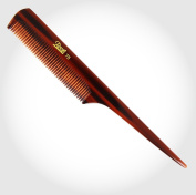 Brown Fine Teeth Tail Comb for Fine Hair hair care unisex handle
