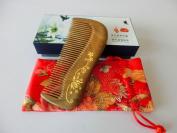 125.5CM No Static Green Sandalwood Wooden Comb Health Care Comb S12