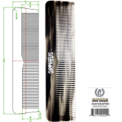 Orpheus Hand Made Acrylic Comb, Coarse/Fine for Men, 7 Inch (188 mm), 30ml