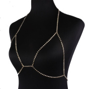 Women's Sexy Simple Body Chain Bikini Bra Link Belly Necklaces Jewellery for Beach Party Dress
