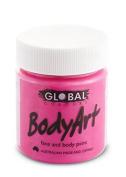 Global Body Art Face Paint - Liquid Fluorescent Pink 45ml