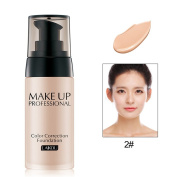Mmrm Coverage Liquid Foundation Makeup Moisture Concealer 40 mL,Natural Beige