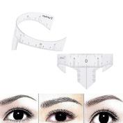 VANKER Makeup Eyebrow Grooming Stencil Shaper Ruler Measure Stencil Tool