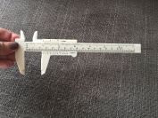 LAUREN STORE, Measure Plastic Vernier Calliper Ruler For Makeup Tattoo Eyebrow Tool 150mm
