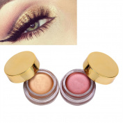 Metallic Eye Shadow, 2 Colours Glitter Pearly Lustre Eye Shadow Powder Waterproof Shimmer Eyeshadow Palette Fashion Beauty Makeup Tool
