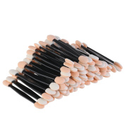 BinaryABC Disposable Dual Sided Eyeshadow Brush Sponge Tipped Oval Makeup Applicator 200pcs