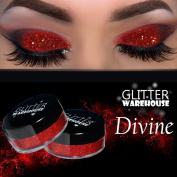 Devious GlitterWarehouse Red Holographic Glitter Great for Eyeshadow / Eye Shadow, Makeup, Body Tattoo, Nail Art and More!