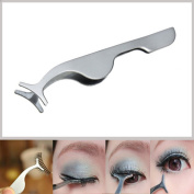 BinaryABC False Eyelashes Extension Applicator Remover Clip Tweezers Nipper 2pcs