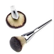 1pcs Large Blush Hot Face Makeup Silver Cosmetic Brush Handle Powder