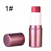 Silvercell 3D Highlighter Stick Nude Makeup Yan Lasting Waterproof Blush Stick Rouge Cream Peach pink
