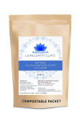 Pure & Natural Bentonite Clay Powder ~ from Spain ~ with FSC sustainable birch wood mixing spoon