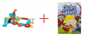VTech Go! Go! Smart Wheels Airport Playset AND Kids Classic Chutes & Ladders - Bundle