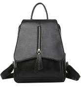 La Vogue Women Shoulder Bag Adjustable Straps Backpack Girls School Bag Black