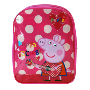 Peppa Pig 'Rock' Basic Simple Pink Peppa Pig Character Girls Kids Childrens Rucsack Travel Bag Backpack