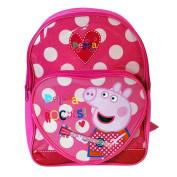 Peppa Pig 'Rock' Pink Backpack Front Pocket Special Girls Kids Childrens Rucsack Travel Bag Backpack