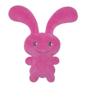 Trousselier V1099 14 Funny Bunny Comforter with Rattle - Fuchsia