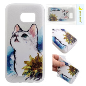 Case for Samsung S7, Moon mood® Matte Soft Touch Slim Fit Flexible TPU Back Case Skin Scrub Colourful Relief Pattern Phone Cover Drop Proof Protective Shell for Samsung Galaxy S7