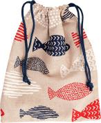 Vagabond Bags Go Fishing Drawstring Toiletry Bag, 31 cm, Multicolor