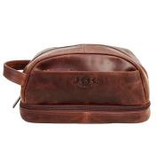 Scotch & Vain large wash bag - Travel Overnight Wash Gym Shaving Bag For Men's Or Ladies ALEX - toiletry bag brown-cognac leather