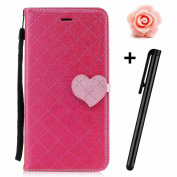 Samsung Galaxy A3 2017 Case,Galaxy A3 2017 Wallet Case,Galaxy A3 2017 Folio Cover,TOYYM Ultra Slim Lovely PU Leather Wallet Case [Kickstand] [Card Slots] [Love hearts Magnetic Closure] Protective Bookstyle Case Cover for Samsung Galaxy A3